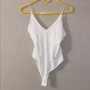 Topshop White stretchy bodysuit